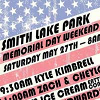 Memorial Day Schedule of Events at Smith Lake Park